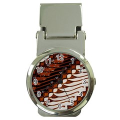 Traditional Batik Sarong Money Clip Watches