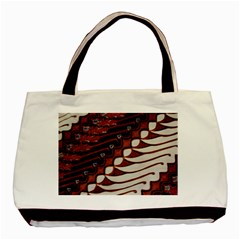 Traditional Batik Sarong Basic Tote Bag