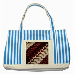 Traditional Batik Sarong Striped Blue Tote Bag