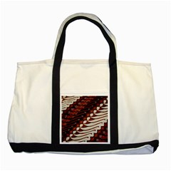 Traditional Batik Sarong Two Tone Tote Bag