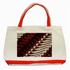 Traditional Batik Sarong Classic Tote Bag (Red)