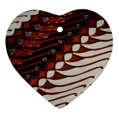 Traditional Batik Sarong Heart Ornament (Two Sides)