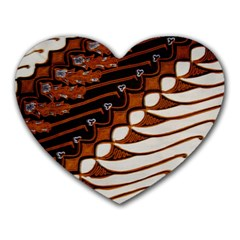 Traditional Batik Sarong Heart Mousepads