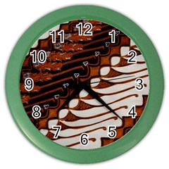 Traditional Batik Sarong Color Wall Clocks