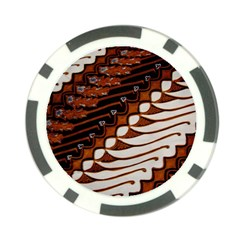 Traditional Batik Sarong Poker Chip Card Guard