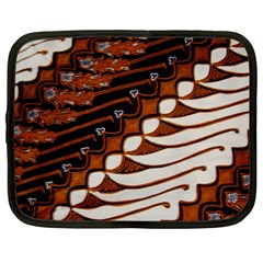 Traditional Batik Sarong Netbook Case (Large)