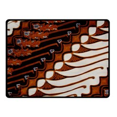Traditional Batik Sarong Fleece Blanket (Small)