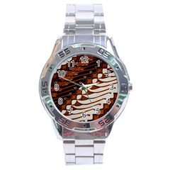 Traditional Batik Sarong Stainless Steel Analogue Watch