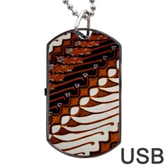 Traditional Batik Sarong Dog Tag USB Flash (One Side)