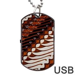 Traditional Batik Sarong Dog Tag USB Flash (Two Sides)