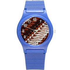 Traditional Batik Sarong Round Plastic Sport Watch (S)