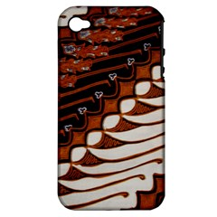 Traditional Batik Sarong Apple iPhone 4/4S Hardshell Case (PC+Silicone)