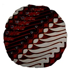 Traditional Batik Sarong Large 18  Premium Round Cushions