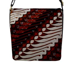Traditional Batik Sarong Flap Messenger Bag (L)