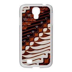 Traditional Batik Sarong Samsung GALAXY S4 I9500/ I9505 Case (White)