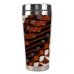 Traditional Batik Sarong Stainless Steel Travel Tumblers