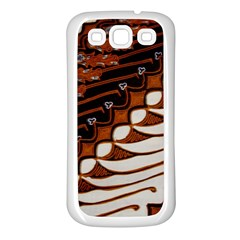 Traditional Batik Sarong Samsung Galaxy S3 Back Case (White)