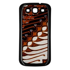 Traditional Batik Sarong Samsung Galaxy S3 Back Case (Black)