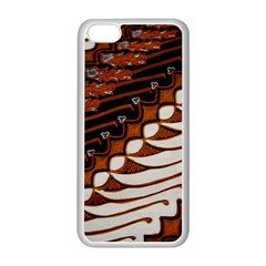 Traditional Batik Sarong Apple iPhone 5C Seamless Case (White)