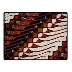 Traditional Batik Sarong Double Sided Fleece Blanket (Small)
