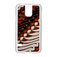 Traditional Batik Sarong Samsung Galaxy S5 Case (White)