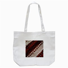 Traditional Batik Sarong Tote Bag (White)
