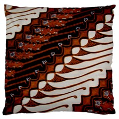 Traditional Batik Sarong Large Flano Cushion Case (One Side)