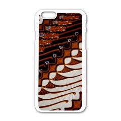 Traditional Batik Sarong Apple iPhone 6/6S White Enamel Case