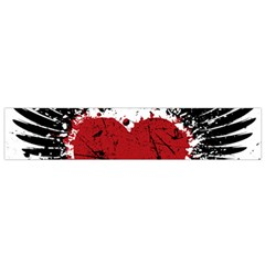 Wings Of Heart Illustration Flano Scarf (Small)