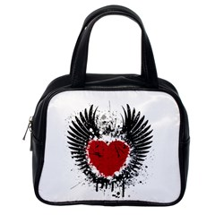 Wings Of Heart Illustration Classic Handbags (One Side)