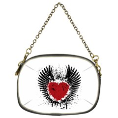 Wings Of Heart Illustration Chain Purses (One Side)