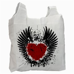 Wings Of Heart Illustration Recycle Bag (Two Side)