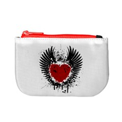 Wings Of Heart Illustration Mini Coin Purses