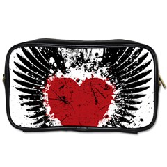 Wings Of Heart Illustration Toiletries Bags