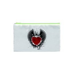 Wings Of Heart Illustration Cosmetic Bag (XS)