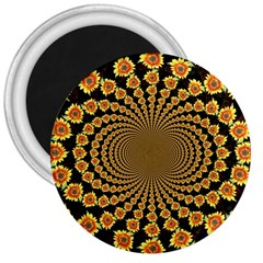 Psychedelic Sunflower 3  Magnets
