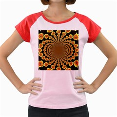 Psychedelic Sunflower Women s Cap Sleeve T-Shirt