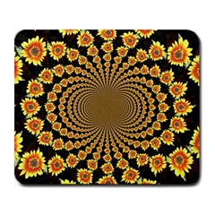 Psychedelic Sunflower Large Mousepads