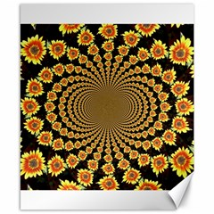 Psychedelic Sunflower Canvas 8  x 10