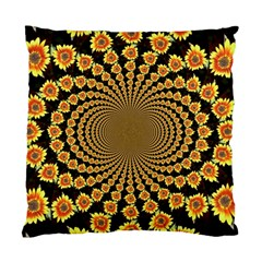 Psychedelic Sunflower Standard Cushion Case (One Side)