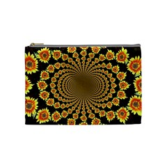 Psychedelic Sunflower Cosmetic Bag (Medium)