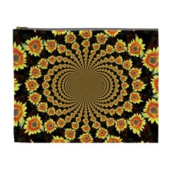 Psychedelic Sunflower Cosmetic Bag (XL)