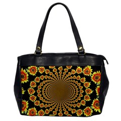 Psychedelic Sunflower Office Handbags