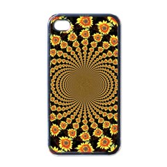 Psychedelic Sunflower Apple iPhone 4 Case (Black)