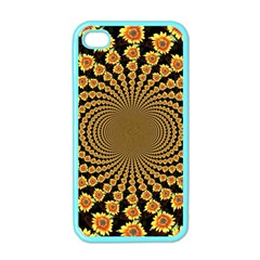 Psychedelic Sunflower Apple iPhone 4 Case (Color)