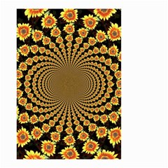 Psychedelic Sunflower Small Garden Flag (Two Sides)