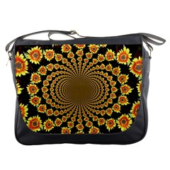 Psychedelic Sunflower Messenger Bags