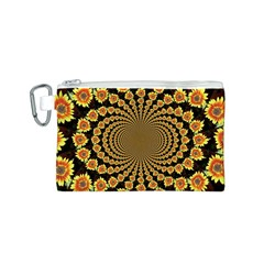 Psychedelic Sunflower Canvas Cosmetic Bag (S)
