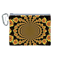 Psychedelic Sunflower Canvas Cosmetic Bag (L)