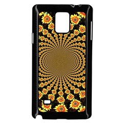 Psychedelic Sunflower Samsung Galaxy Note 4 Case (Black)
